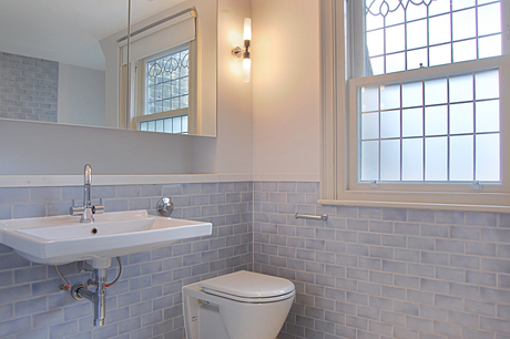 residential details Flat5 6 Devonshire St bathroom architect
